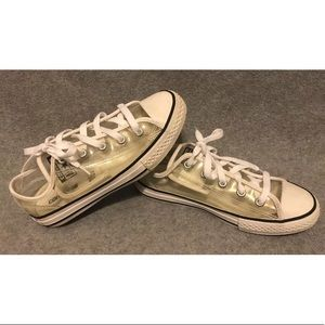 Clear Converse lowtop sneakers